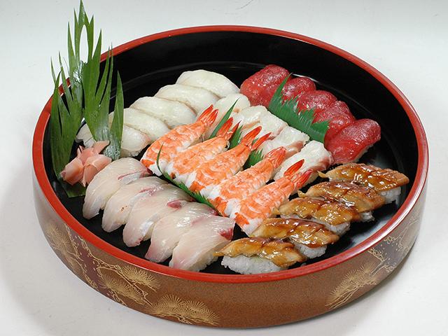 ①にぎり寿司五人前